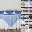 "6 pcs TABLE OVERLAYS 72"" Sheer Organza Wedding Party Catering Event Decorations"