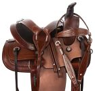 Trail Roping Western Saddle Premium Youth Childrens Horse Tack Set 13 in