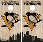 Pittsburgh Penguins Cornhole Wrap NHL Game City Skyline Skin Vinyl Decal CO906 $39.95 USD on eBay