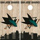 San Jose Sharks Cornhole Wrap NHL Game City Skyline Skin Vinyl Decal CO907 $39.95 USD on eBay