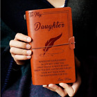 5 Types To My Daughter Son Wife Man Engraved Leather Journal Notebook Diary Gift