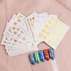 1 Pc Gold Silver Christmas Design Nail Art Stickers Winter Snow Flower Sliders