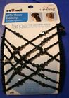 Scunci Up-Zing Beaded large secure hold Dozen style one easy stretch black brown