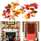 170cm Artificial Autumn Fall Maple Leaves Hanging Plant Home Party Decoration