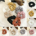 Solid Color Corduroy Scrunchies Winter Elastic Rubber Bands Ponytail Hair Ring