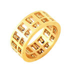 Abacus Ring Gold Plated Titanium Steel Rotatable Beads Charms Punk Jewelry