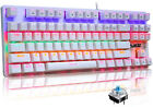 New RGB Gaming Keyboard 87 Keys for PC Playing Gamers Office Wired 24 Backlit