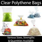 Clear Polythene Plastic Bags ALL SIZES Strong 100 200 500 1000 FOOD FREEZER BAG