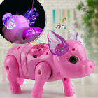 Electric Walking Singing Musical Light Pig Toy Leash Interactive Kids Toy Gift