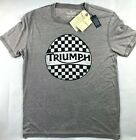 NWT NEW Men's Lucky Brand Triumph Motorcycle Checker T-Shirt Top Tee Choose Size $21.97 USD on eBay