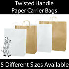 Strong White / Brown Kraft Twist Handle Paper Carrier Bags Boutique Gifts Bags