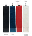 Golf Club Towel Big with Clip Terry Velour Hook to Bag 65cm long x 14cm wide