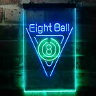 Eight Ball Billiards Pool Snooker Room Dual Color LED Neon Sign st6-i3395 $64.99 USD on eBay
