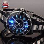 Men's Women's Stainless Steel Couples Wrist Watch LED Analog Quartz Waterproof