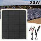 Solar Panel 12V Trickle Charge Battery Charger Kit Maintainer Marine Boat RV Car