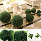 ONE ARTIFICIAL GRASS BALL INDOOR OUTDOOR TOPIARY TREE PLANT POOL PATIO DECOR $5.99 USD on eBay