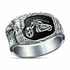 Cool Men 925 Silver Eagle Motorcycle Rings Women Wedding Band Party Jewelry Gift