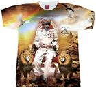 JAH RASTAFARI LIVES T Shirt. Sublimation Mens, Ladies And Youth Sizes. Rasta Tee image