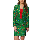 UK Womens Christmas Blazer Suit Jacket+Skirt Suits Ladies Xmas Party Co Ord Sets