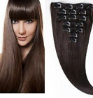 2 Brown 100 Human Hair Weave Brazilian Straight Clip In Hair Extensions