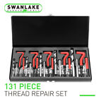 131Pc Thread Repair Kit HSS Drill Helicoil Repair Kit SAE Metric Inch