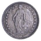 Roughly Size of Dime 1920 Switzerland 1/2 Franc - World Silver Coin *890