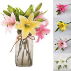 1PC 3 Heads Real Touch Artificial Lily Flower DIY Home Wedding Party Decorative