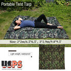Portable Ultralight Waterproof Tent Tarp Outdoor Mat RainTent Shelter Camouflage