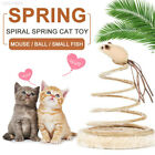 A056 Small Fish Funny Cat Toy Elastic Spring Mouse Gift Playing Sturdy