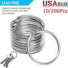 Kyпить 200pcs Silver Keyring Stainless Steel Metal Car Key Holder Split Rings 25mm Lots на еВаy.соm
