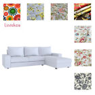 Custom Made Cover Fits IKEA Kivik 4 seat sofa with chaise, Patterned fabrics