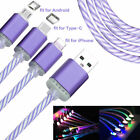 LED Light Micro USB /Type C Luminous Charging Data Cable Cord For Android iPhone