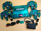 Kyпить Ice Blue / Clear Nintendo 64 Console w/ OEM CONTROLLERS! Choose # of Controllers на еВаy.соm