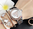 2020 New Stainless steel  Wristwatch Women's Crystal geometry Guesses  Watches image