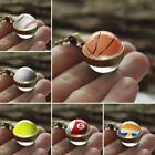 New Fashion Double Sided Glass Ball Pendant Necklace Classic Sport Chain Jewelry $4.4 AUD on eBay