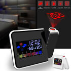 Digital Projection LCD Display Alarm Clock LED with Temperature Weather Station