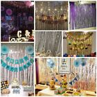 Kyпить Metallic Foil Fringe Curtain Tinsel Photo Backdrop Party Birthday Decor 2M-3M на еВаy.соm