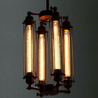 Industrial Metal Steampunk Pendant Hanging Lamp 4/8 Light Edison Bulb Chandelier