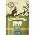 James Wellbeloved Wet Cat Food Turkey Kitten Pouch 12x85g