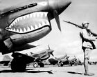 New World War II Photo: Chinese Soldier Guarding P-40 Flying Tigers - 6 Sizes!
