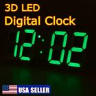 USB Large 3D Modern Digital LED Table Night Wall Clock 24/12 Hour Timer Alarm US