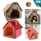 Portable Cute Dog House Foldable Warm Pet Bed Nest Tent Cat Puppy Kennel Gifts
