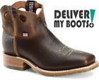 *NEW* Men's Double H Boots DH4901 - US Made Simon Square Toe Cowboy Ankle Chukka