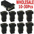 10x VGA Extender Male to LAN RJ45 CAT5 CAT6 Network Cable Female Adapter