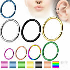 Fake Cartilage Tragus Septum Nose Hoop Ring C Shaped Titanium Annealed