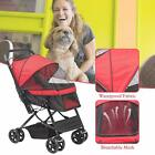 4 Wheels Pet Stroller Cat Dog Cage Stroller Travel Folding Carrier 4 Choices