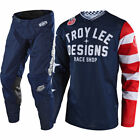 NEW TROY LEE DESIGNS GP AIR AMERICANA MOTOCROSS GEAR COMBO NAVY ALL SIZES