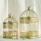 """BIRD CAGES Gold 13"""" and 9"""" tall Wedding Party Centerpieces Home Decorations SALE"""