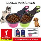 3 in 1 Collapsible Food Scoop Measure Cup Bag Clip Control For Healthy Pet-Dog