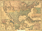Map of the USA/ American OLD map Poster Fabric Print Silk poster+ Free Shipping